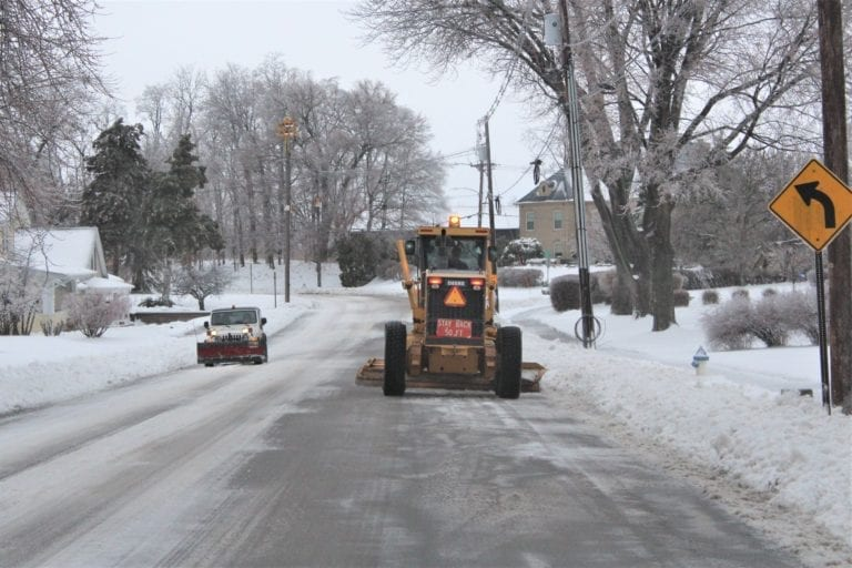 All available city staff at work in snow removal effort