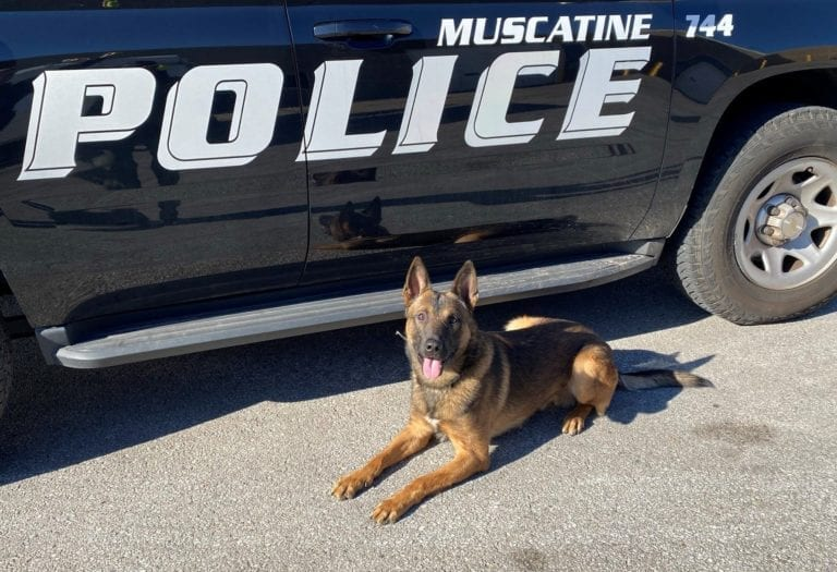 Muscatine Police K9 Officer to receive body armor