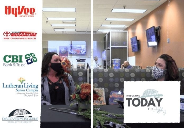 Muscatine Today with Ashley LIVE from Hy-Vee Market Grille Studios with guest Jordan Lloyd