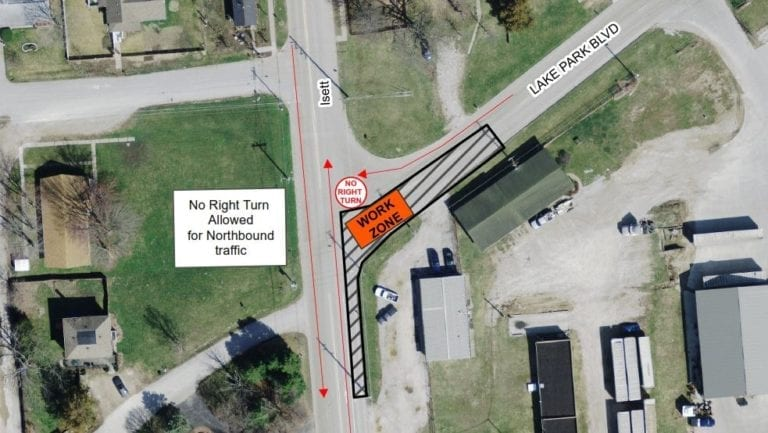 Lane restrictions Dec. 21-23 at three locations in Muscatine
