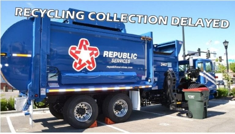Recycling Collection unfinished Wednesday (January 6)
