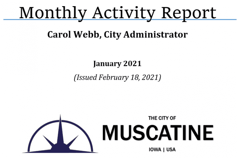 Monthly report offered to keep citizens up to date
