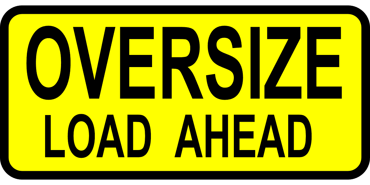 Oversize Load Ahead Graphic (PNG)
