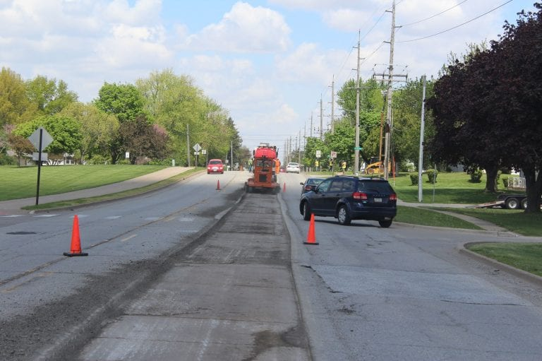 Milling for asphalt overlay nearly complete, paving starts next week