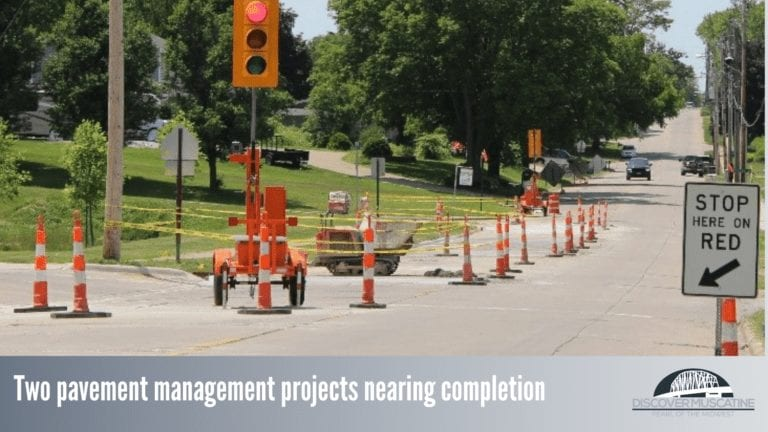 Two pavement management projects nearing completion