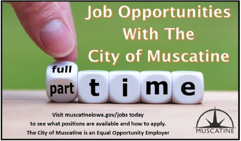 Variety of employment opportunities available with the City of Muscatine