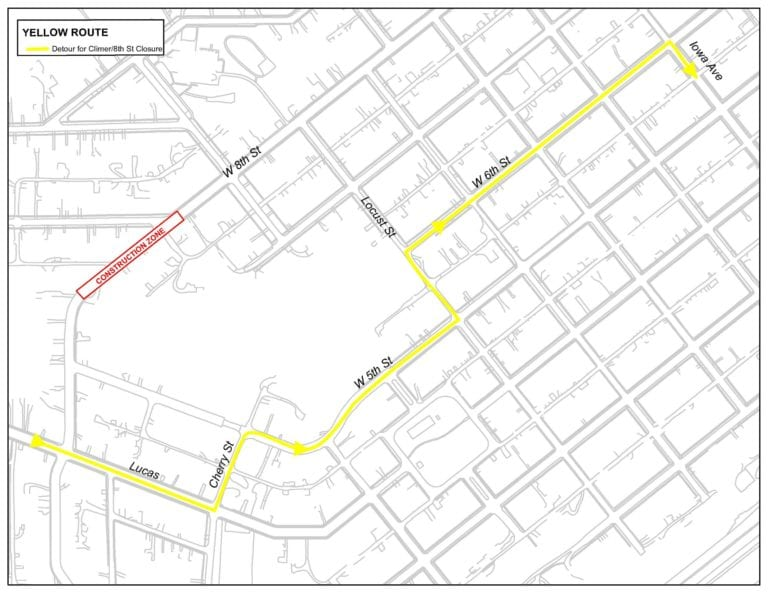 MuscaBus Yellow detour route announced due to construction work