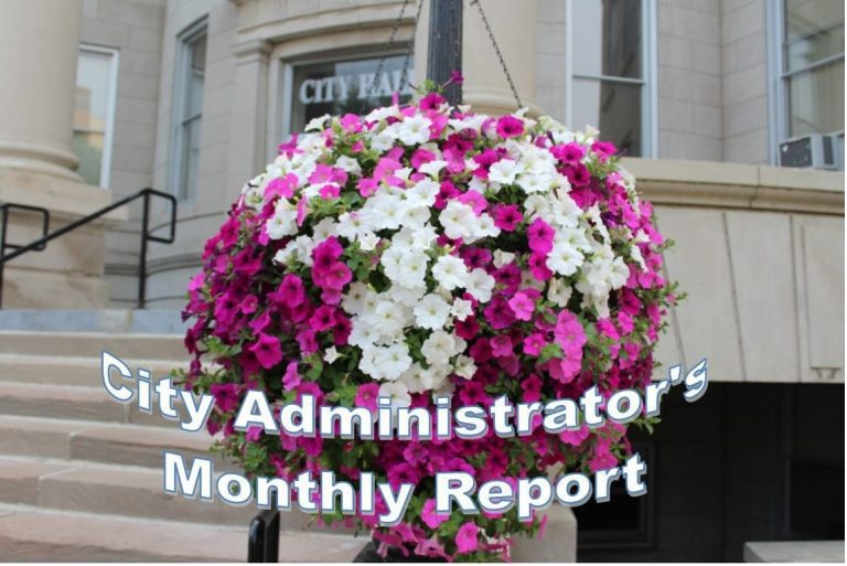 City Administrator's Monthly Report available for viewing