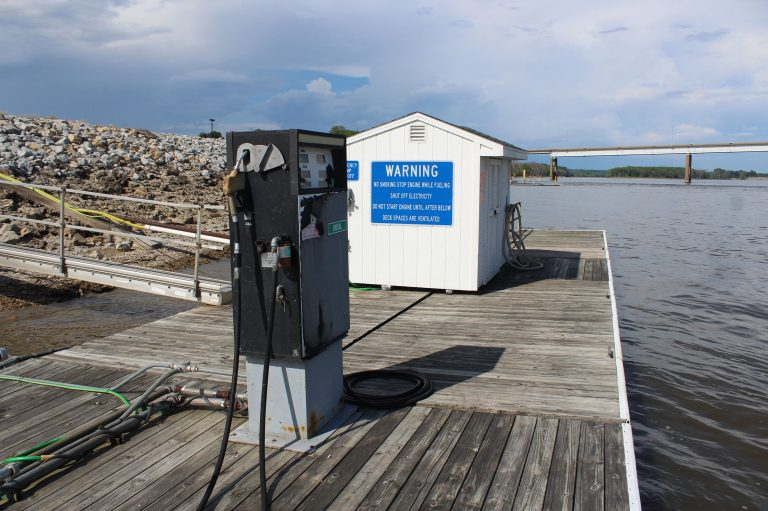 Muscatine Harbor gas dock available by appointment only