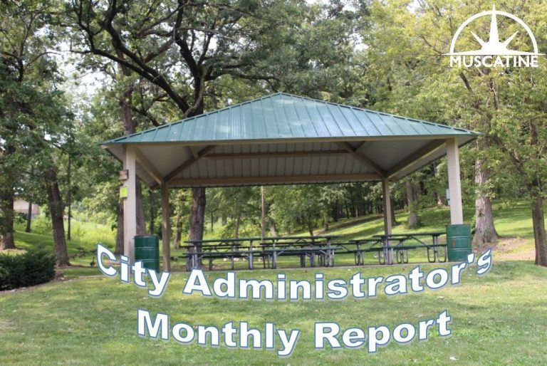 City of Muscatine monthly report of Departments released