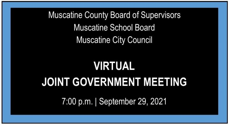 Joint City-County-School virtual meeting set for September 29